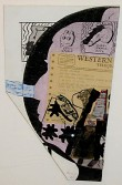 Ray Johnson<br /> <i>Untitled (May Wilson Western Union)</i> , 11.12.92<br /> Collage on illustration board<br /> 18.625 x 13 inches<br /> 47.3 x 33 cm<br />