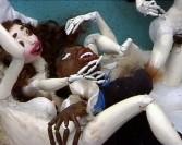 Nathalie Djurberg<br /> <i>Badain</i>, 2005<br /> Clay animation, digital video<br /> 5:24<br /> Edition of 4<br /> Music by Hans Berg