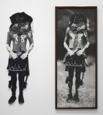 Elaine Reichek<br /> Navaho, 1992<br /> Knitted wool yarn and gelatin silver print in 2 parts<br /> 70 x 62 inches<br /> 177.8 x 157.5 cm