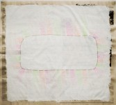 Phoebe Washburn<br /> <i>Sorry Folks</i>, 2012<br /> Mixed media on newspaper<br /> 21 3/4 x 24 inches<br /> 55.2 x 61 cm