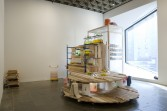 Phoebe Washburn<br /> <i>While Enhancing a Diminishing Deep Down Thirst, the Juice Broke Loose (the Birth of a Soda Shop)</i>, 2008<br /> Installation view, Whitney Biennial<br /> New York, NY