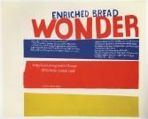 Sister Corita<br /> <i>enriched bread</i>, 1965<br /> Serigraph<br /> 29.75 x 36.25 inches<br /> 75.6 x 92.1 cm