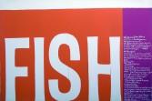 Sister Corita<br /> <i>fish</i>, 1964<br /> Serigraph<br /> 24 x 36 inches<br /> 61 x 91.4 cm