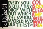 Sister Corita<br /> <i>i thirst</i>, 1964<br /> Serigraph<br /> 24 x 36 inches<br /> 61 x 91.4 cm