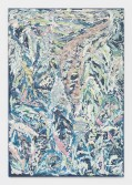 Johannes VanDerBeek<br /> <i>Leaves</i>, 2014<br /> Aqua-Resin, fiberglass, steel, clay, silicone, paint<br /> 65 x 45 inches<br /> 165.1 x 114.3 cm