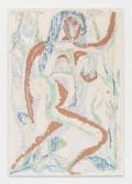 Johannes VanDerBeek<br /> <i>Running in Grass</i>, 2014<br /> Aqua-Resin, fiberglass, steel, clay, silicone, paint<br /> 65 x 45 inches<br /> 165.1 x 114.3 cm