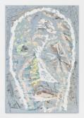 Johannes VanDerBeek<br /> <i>Blue Tantrum</i>, 2014<br /> Aqua-Resin, fiberglass, steel, clay, paint, oil stick<br /> 65 x 45 inches<br /> 165.1 x 114.3 cm<br />