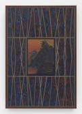 Zach Harris<br /> Black Light/Last Supper, 2015<br /> Water-based paint, canvas, and wood<br /> 47 x 32.5 inches<br /> 119.4 x 82.6 cm