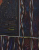 Detail<br /> Zach Harris<br /> Black Light/Last Supper, 2015<br /> Water-based paint, canvas, and wood<br /> 47 x 32.5 inches<br /> 119.4 x 82.6 cm