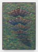 Zach Harris<br /> 2016 Calendar Clouds, 2015<br /> Water-based paint, spray paint, archival ink, and wood<br /> 67 x 47 inches<br /> 170.2 x 119.4 cm
