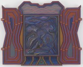 Zach Harris<br /> <i>4th Stage</i>, 2012-2013<br /> Water based paint, wood<br /> 14 3/4 x 18 1/8 x 5/8 inches<br /> 37.5 x 46 x 1.6 cm