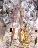 Tim Lokiec<br /> <i>Club cannibal</i>, 2005<br /> Mixed media on panel<br /> 60 x 48 inches<br /> 152.4 x 121.9 cm